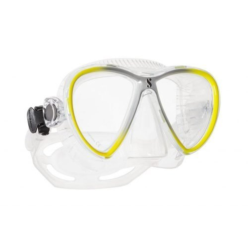 Scubapro-Synergy Twin Trufit-masker-Geel Zilver Transparant-wobbegong-Duiken