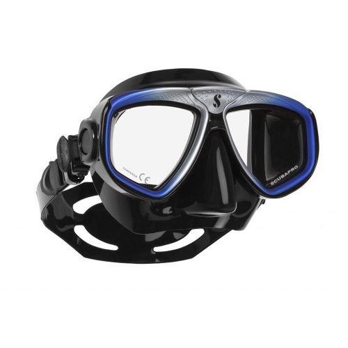 Scubapro-Zoom Evo-Masker-Blauw Zilver Zwart-wobbegong-Duiken