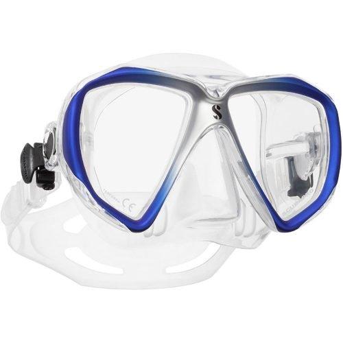 Scubapro-Spectra-Masker-Blauw Zilver Transparant-wobbegong-duiken