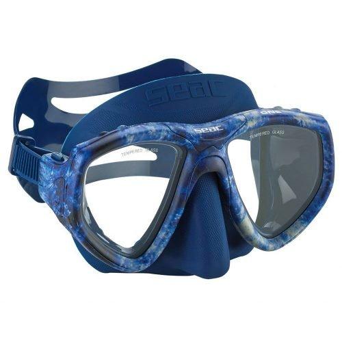 Seac-Camo One-Freedive Masker-Camo Blauw-wobbegong-Duiken