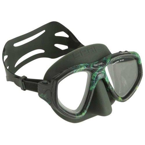 Seac-Camo One-Freedive Masker-Camo Green-wobbegong-Duiken