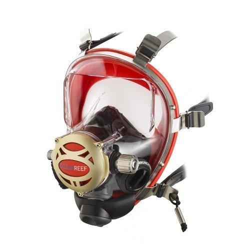 DeOceanreef Iron Mask is een compleet volgelaatsmasker voorzien van diverse extra's die het duiken makkelijker, leuker en interessanter maken.