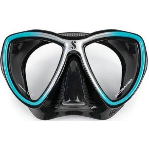 scubapro-synergy-mini-Aqua-silver-black-masker-duiken-wobbegong