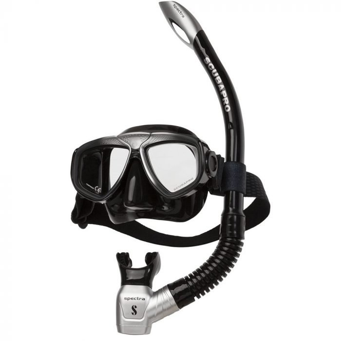scubapro-zoom-combo-Zwart zilver-snorkelset-duiken-wobbegong