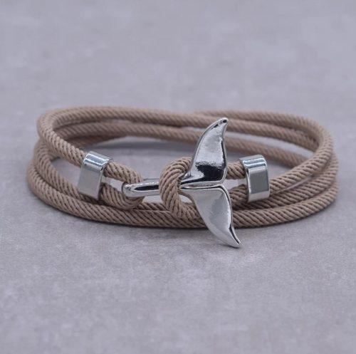 Armband-Dolfijnstaart-zilver-beige