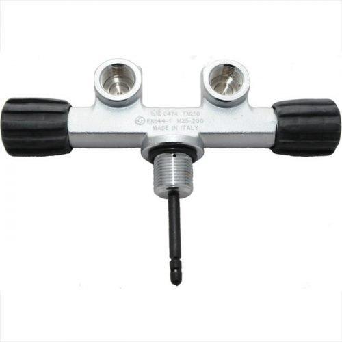 Kraan Dubbel 300 bar M25x2