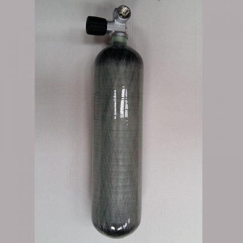 Schietsport tank Carbon met kraan 3L 300 bar
